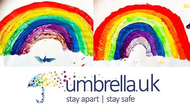 Umbrella Insolvency youngsters have been displaying rainbows in the windows of their homes during the coronavirus outbreak.