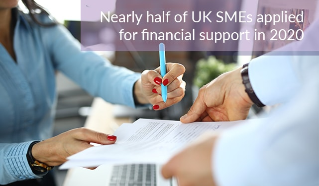 Nearly half of UK SMEs applied for financial support in 2020